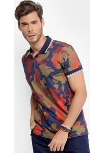 Camisa Polo Coca-Cola Camuflada Masculina - Masculino