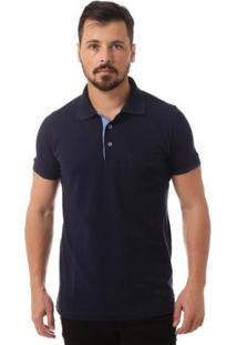 Camisa Polo Osmoze Bolso Masculino - Masculino-Marinho