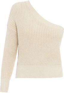 Blusa Feminina Tricot Ombro Só Liz - Bege