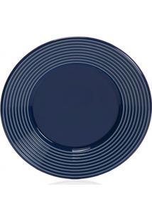 Prato De Sobremesa Em Cerâmica Argos 20Cm Azul