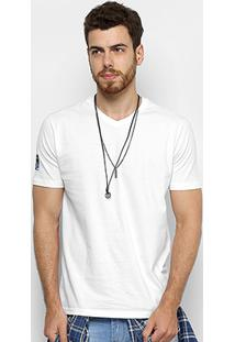 Camiseta Slim Calvin Klein Estampada Fita Masculina - Masculino