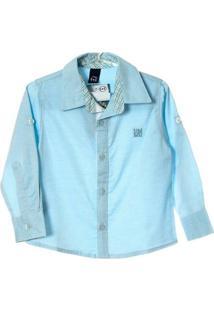 Camisa 1+1 - Masculino-Azul