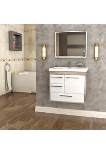 Conjunto Balcão Para Banheiro Cerocha Procion 1 Porta 3 Gavetas