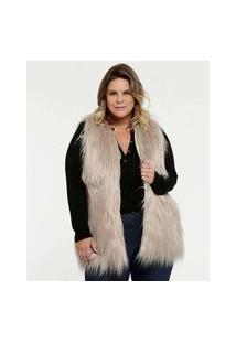 Colete Feminino Pelúcia Plus Size Marisa