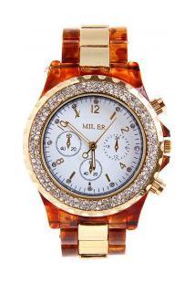 Relógio Feminino Miler Quartzo - Laranja