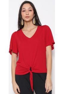 Blusa Lisa Com Amarração- Vermelha- Vittrivittri