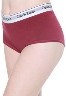 Calcinha Calvin Klein Underwear Caleçon Modern Vinho