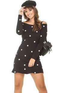 df32f582aa Vestido Cotton Manga Longa feminino