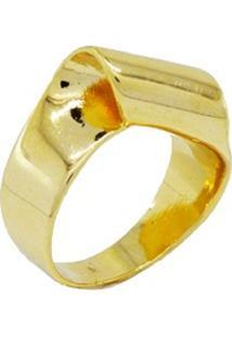 Anel Turn On Dourado Banhado A Ouro 18K