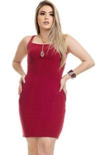 Vestido Clara Arruda Tubinho Decote Quadrado 50584 - Feminino