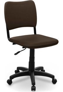 Cadeira Giratã³Ria Estofados Atena S/ Braã§O Marrom - Marrom - Dafiti