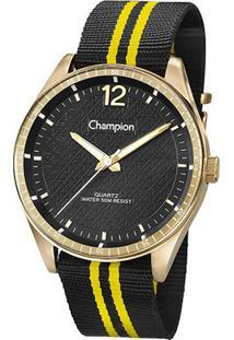 Relógio Champion Analógico Ch30215O Feminino - Feminino-Preto