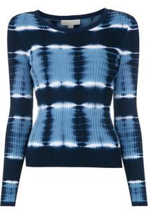 Michael Michael Kors Blusa 'Stripe Tie Dye' De Tricô - Azul