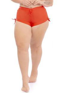 Calcinha Shorts Plus Size Laranja