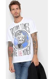 Camiseta Triton Save The Moment Masculina - Masculino-Branco