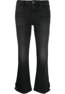 Frame Calça Jeans Cropped - Preto