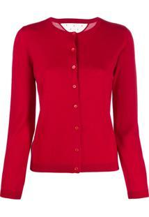 Red Valentino Cardigan De Tricô - Vermelho
