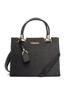 Bolsa De Ombro Castelo Fashion Black.