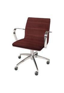 Cadeira Office Lux Marsala Base Cromada 87Cm - 61277 Marsala