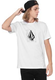 Camiseta Volcom Silk Drippin Out Branca