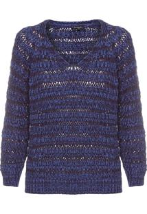 Blusa Feminina Maxi Pull Mari - Azul