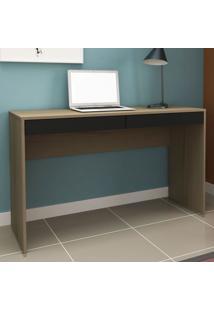 Mesa Para Computador 2 Gavetas Ho-2932 Avelã/Onix - Hecol