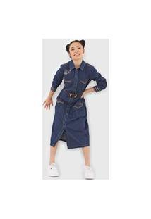 Vestido Jeans Desigual Midi Castiel Azul