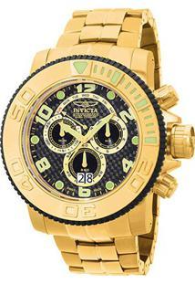 Relógio Invicta Sea Hunter Analógico 010763 Masculino - Masculino-Dourado