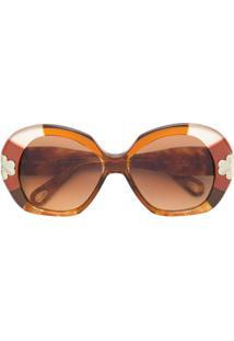 R  2696,00. Farfetch Chloé Eyewear Óculos De Sol ... 2bc20779c5