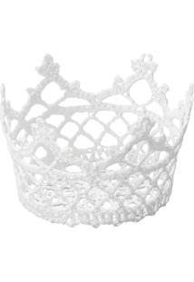 Cesta Redonda De Plástico Branca Crown 6349 Lyor Classic