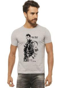 Camiseta Joss Estampada - Hero Word - Masculina - Masculino-Mescla
