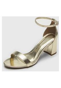 Sandália Santa Lolla Metalizada Dourada