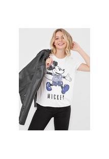 Blusa Cativa Disney Mickey E Minnie Branca