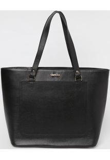 Bolsa Com Bolso Frontal- Preta- 31X46X14Cmgriffazzi
