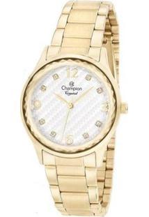 Relógio Champion Feminino Crystal - Feminino-Dourado