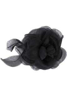 Dsquared2 Broche Floral Com Tule - Preto