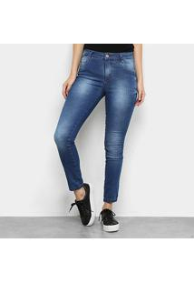 Calça Jeans Skinny Ecxo Estonada Feminina - Feminino