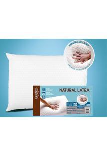 Travesseiro De Látex Baixo - Capa 100% Algodão 200 Fios - 50 X 70 Cm - Duoflex - Kanui
