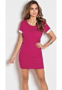 dacce6546a Vestido Moda Pop Rosa feminino