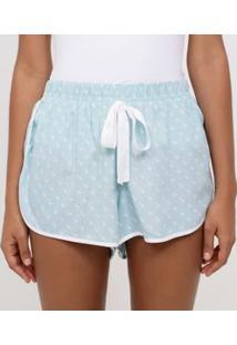 Short De Pijama Estampa Poá Duplo