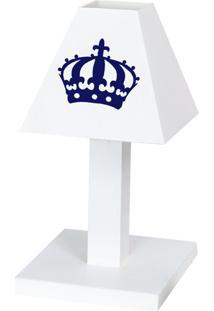 Abajur Dôda Baby Imperial Príncipe Azul Marinho Mdf