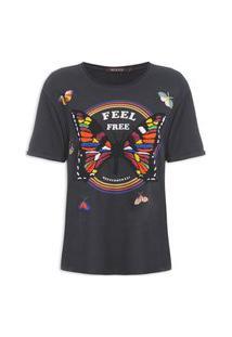 Camiseta Feminina Butterfly - Preto