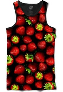 Camiseta Bsc Regata Strawberry Full Print - Masculino
