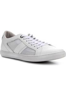 Sapatênis Couro Shoestock Urban Masculino - Masculino-Branco
