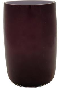 Vaso Bianco E Nero 23X14Cm Vinho - Kanui