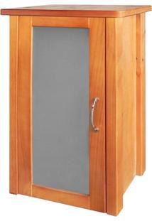 Gabinete Mascella Para Banheiro 70X42X20Cm 1 Porta Marrom