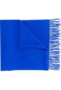 N.Peal Cachecol De Cashmere Grande - Azul
