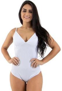 Body Diluxo De Ribana Decote V Feminino - Feminino