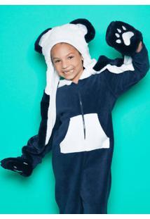 Gorro Panda Com Mã£Ozinha - Preto & Branco - 26,5X23Cpuket