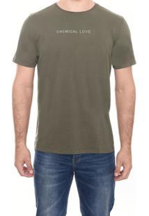 Camiseta C M/C Gola Silk Chemical M.Officer Verde